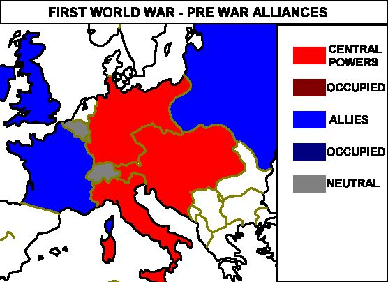 alliances during wwi dbq Allied powers, also called allies, those countries allied in opposition to the central powers (germany, austria-hungary, and turkey) in world war i or to the axis powers (germany, italy, and japan) in world war ii.