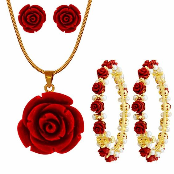 Stone Type : Synthetic CoralStone Color : RedPearl Type : ShellPearl Shape : RoundBase Metal : Alloy With Gold Plated