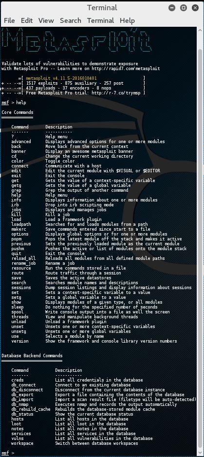 Metasploit Commands Hacking Tutorials Computer Security Hacking Computer Cyber Security
