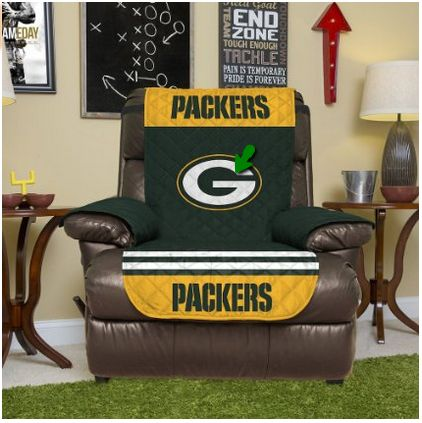 NFL Green Bay Packers Recliner Reversible Furniture Protector with Elastic Straps... #packers #greenbay