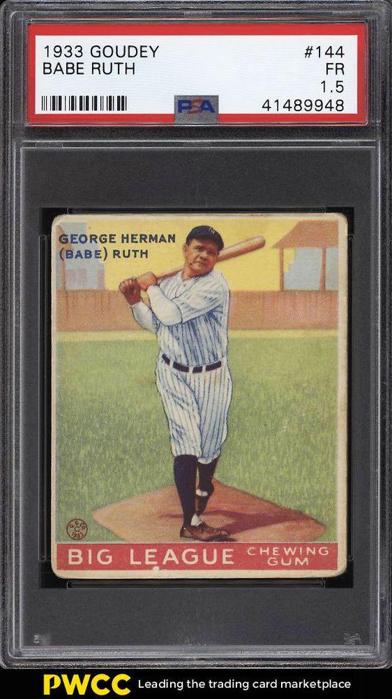 Pin On Babe Ruth Baseball Cards And Memorbailia