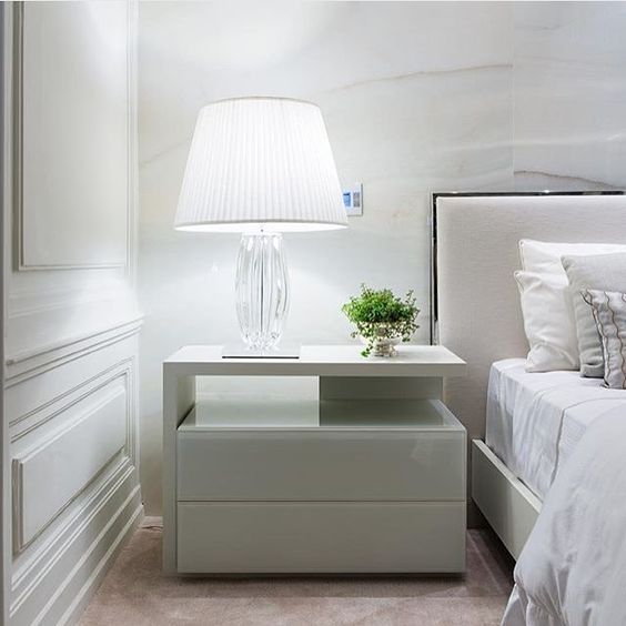 Modern Nightstand Ideas From The Master Bedroom Collection White