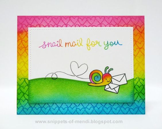 Lawn Fawn Elephant Baby & Snail Mail Critter Cards