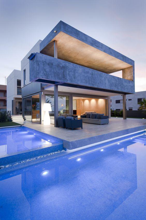 estudio muher piscinas viviendas casas pequeas decoracion lujo arquitect formas oblquas inspiracion finca