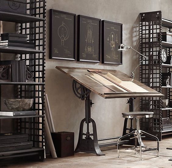 1910 American Trestle Drafting Table from Restoration Hardware