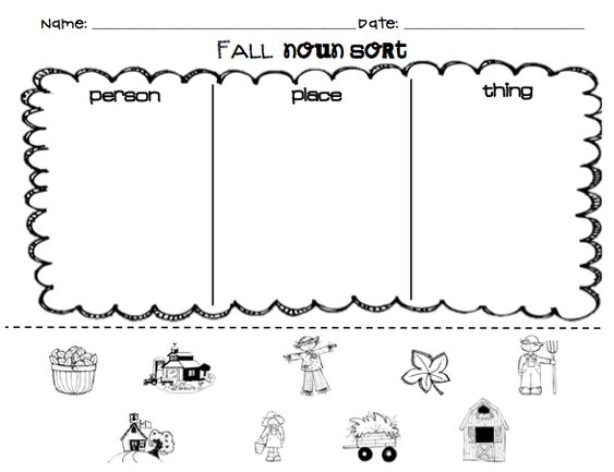 {Kindergarten Noun Worksheets Kiduls Printable – Noun Worksheets for Kindergarten