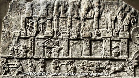 The Assyrian king Tiglath Pileser III of the late 8th century BC was an exceptional military commander who forged a professional army and expanded his Empire through warfare. A scene from the palace at Nimrud shows one of his attacks on a foreign city to the west, which may have been part of his campaign against the Northern Kingdom of Israel and King Pekah. Tiglath Pileser III and his army were victorious against several cities, took captives, and imposed tribute upon Israel. A few years later,