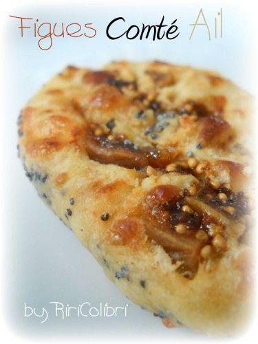 Cookies Salés Comté, Ail et Figues en Robe de Pavot