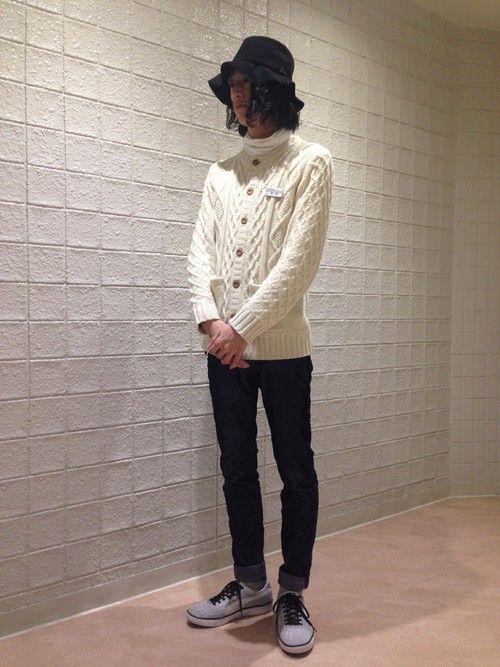 JUNRed 新宿ルミネエスト | YUTA TAKASAKIさんのカーディガン「JUNRed 」を使ったコーディネート