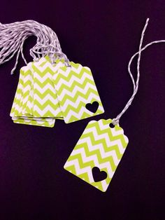 Green Chevron Tags Perfect for Favor Tags, Christmas and Holiday Gift Tags, Organizing Tags, Wedding Favors, Birthday Party Favors! on Etsy, $5.00