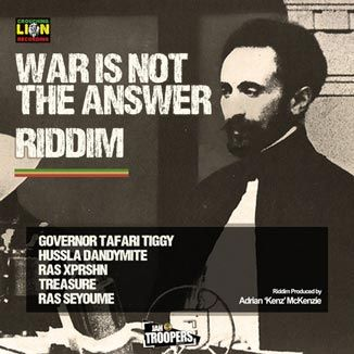 War Is Not The Answer Riddim is a brand new reggae juggling from Jah Troopers (Northampton, UK) & Crouching Lion Recording, produced Adrian ...