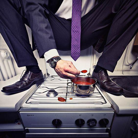 Business kitchen. by Jan Leschke Photography #suit #watch #tie