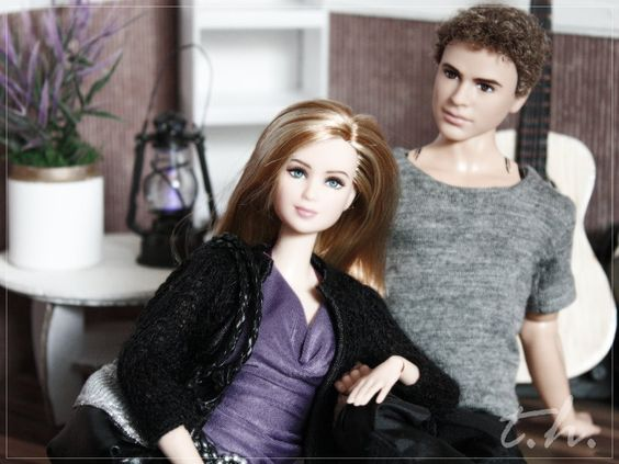 MATTEL Barbie Tris-Hybrid with Four (Divergent) . Both Shirts: made by pinkscroll: