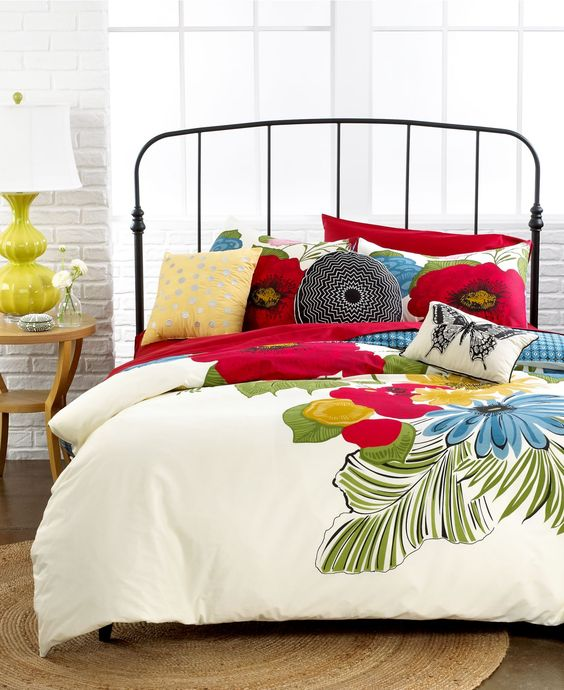 Tropical! Let your bedroom be your oasis. Could remind you of a favorite trip or vacation.