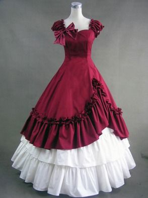 cool dress. civil war era ball gown