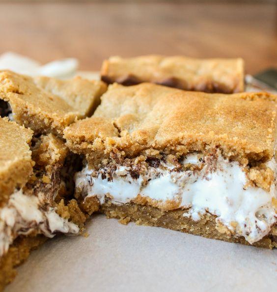 Peanut Butter S'mores Bars #recipe #dessert