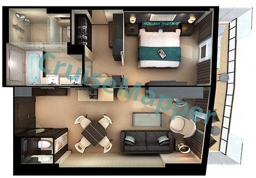 Norwegian Breakaway The Haven Owners Suite Floor Plan Norwegian Breakaway Cabin Suites
