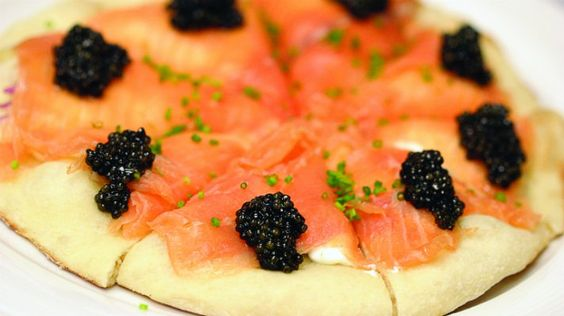 Smoked Salmon Pizza at Spago, Beverly Hills | #myshirtmylife #MSML #foodies…