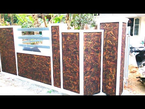 Wall Texture Putty Design Work On Exterior Compound Walls And Pillers Asian Paints Youtube Textured Walls Wall Texture Design Asian Paints