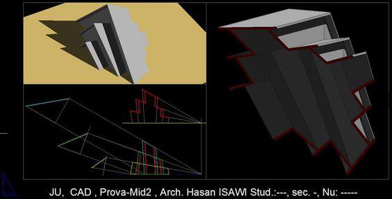 Hasan Isawiالرسم المعماري بالحاسوب/ computer architectural drawing/ prova -mid 2: