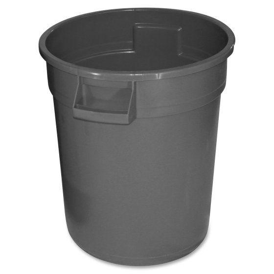 Patio Garden Trash Recycling Bin 32 Gallon Trash Can Wood Waste