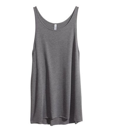 Long loose fitting Jersey Tank Top $9.95 H&M *also in black and purple!