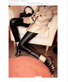 Color Design PU Leggings $33.80 | Pants, Shorts, Tights, Stockings ...