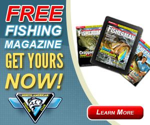 """Free year's subscription to """"Fisherman"""" magazine, plus new fishing tackle to try and keep."""