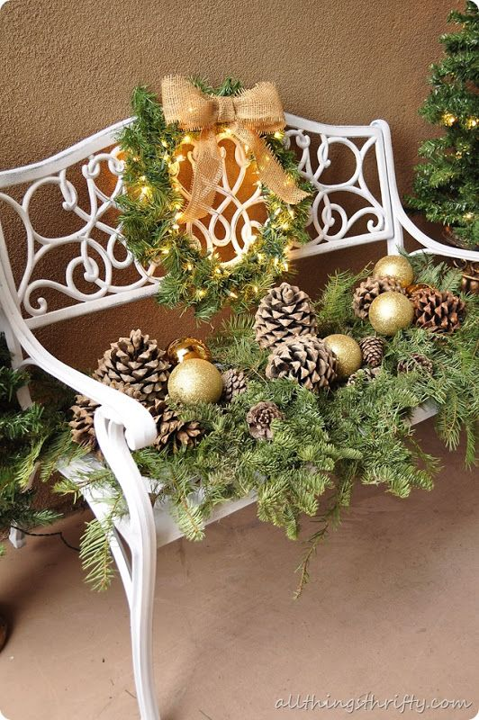 Outdoor Christmas Decorating Ideas Nice For Front Porch Or A Back