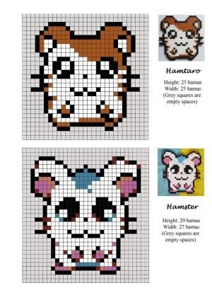 Hamtaro - hamster - pet - hama beads - pattern by Lisa Faretra