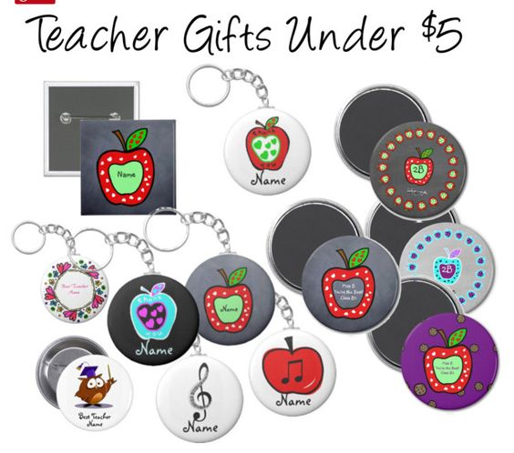 Teacher Gifts under $5 - Personalized