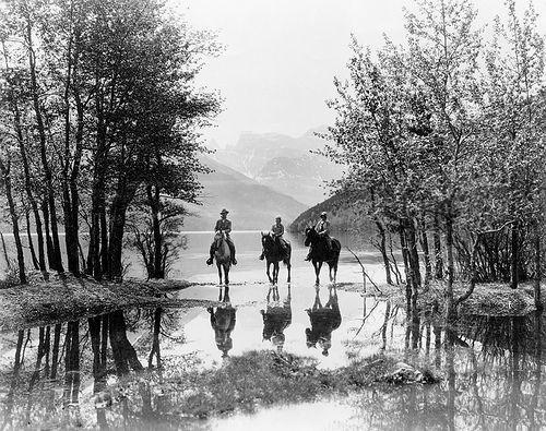 Three Riders at Cameron Bay in Waterton Lakes National Park