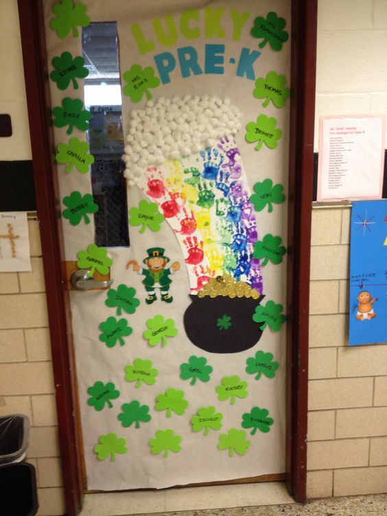 Classroom Decoration Ideas Forage ~ Classroom door decoration for st patricks day teaching