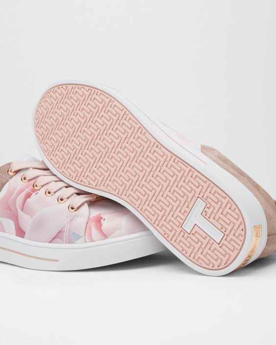 Nude Printed Pink Shoes #trainer #sneakers