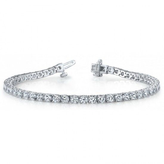 9 Carats Diamond Basic Tennis Bracelet White Gold 14k Tennis Bracelet Diamond Gold Bracelet Wedding Diamond Bracelets