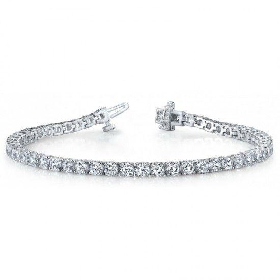 9 Carats Diamond Basic Tennis Bracelet White Gold 14k Tennis Bracelet Diamond Gold Bracelet Wedding Diamond Bracelets