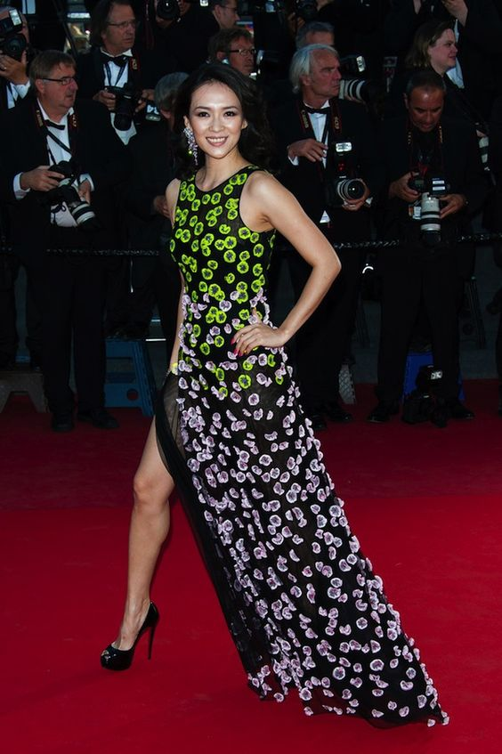 zhang ziyi at zulu premiere in christian dior couture spring 2013 gown #zhangziyi #designer #redcarpet #dior #style #cannes #fashion
