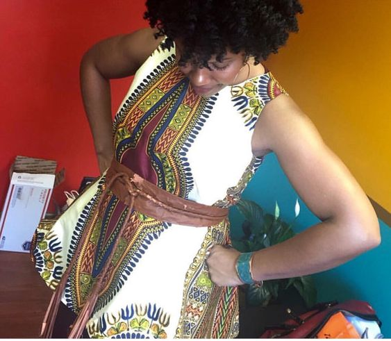 Dashiki fabric african print african women by BurgundybyPK on Etsy