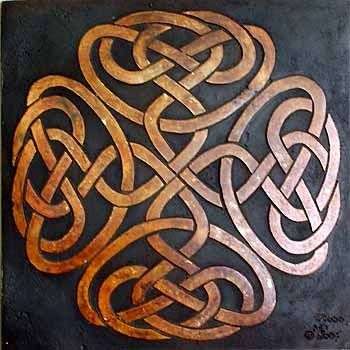 Celtic knotwork square cross