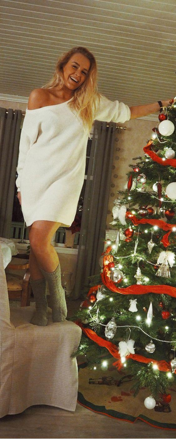simple white bodycon dress, grey socks  and black watch = perfect! m.shein.com