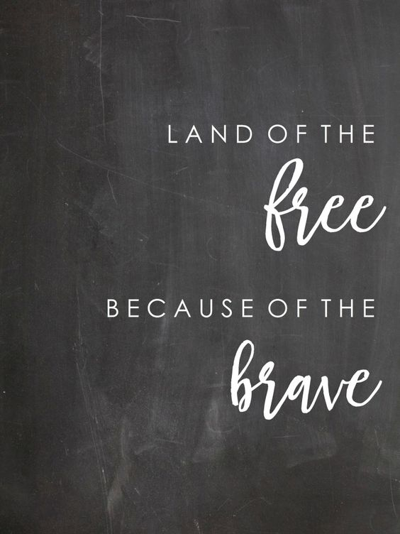 Free Printable - Land of the FREE Because of the BRAVE from Loving Mountain Life: