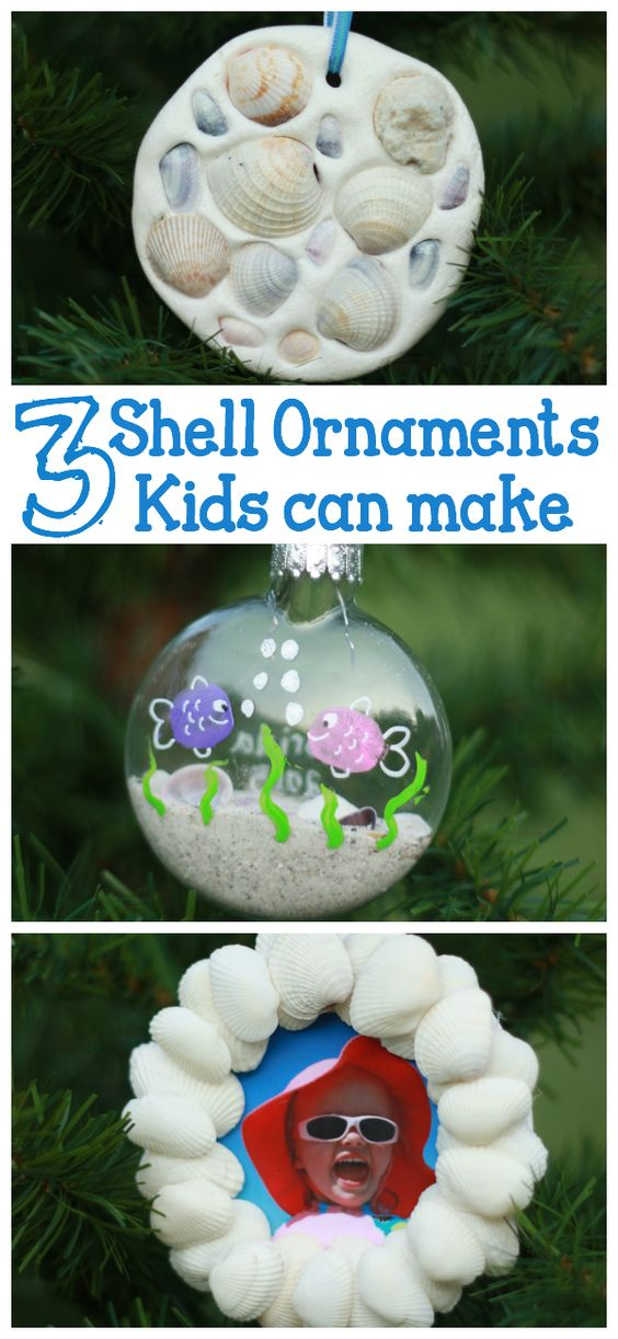 Trees christmas trees and shell ornaments on pinterest for Christmas tree ornaments made from seashells