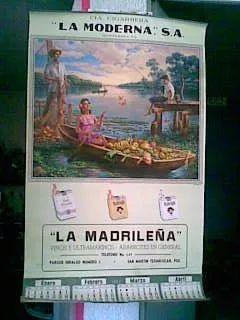 Calendario mexicano - Rio mariposas - Jesús Helguera E.