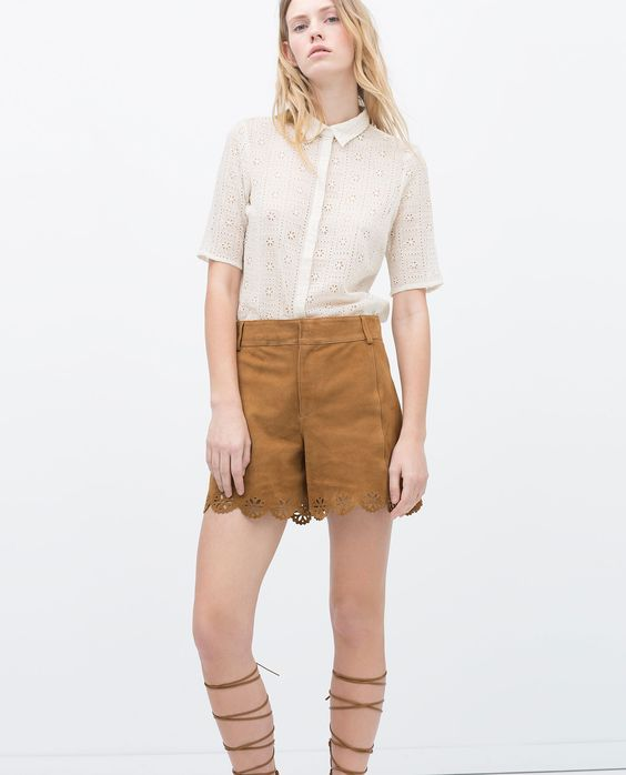 ZARA - WOMAN - EMBROIDERED SHIRT WITH COLLAR