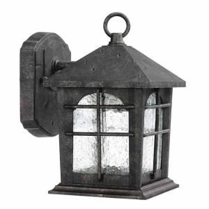 Home Decorators Collection Brimfield 1 Light Aged Iron Outdoor Wall Lantern Home Outdoor Wall