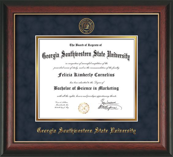 University of Texas - Arlington Diploma Frame - Mahogany Lacquer - w ...
