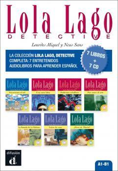 Pack Colección Lola Lago detective (7 libros + 7 CD)