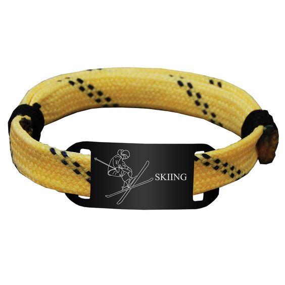 Skiing Lace Bracelet Skier with Skiing Adjustable Sport Lace Bracelet -LE