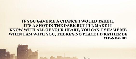 If You Gave Me A Chance I Would Take It. It's A Shot In