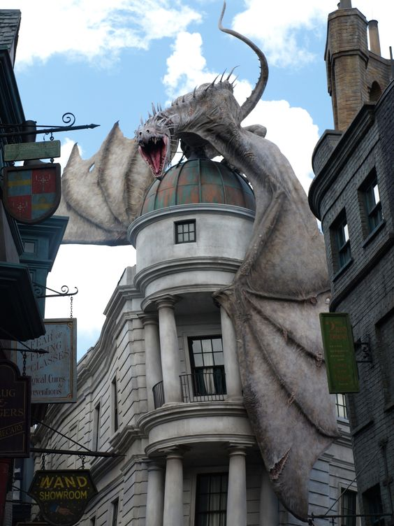 Image result for Harry Potter and the Escape from Gringotts pinterest
